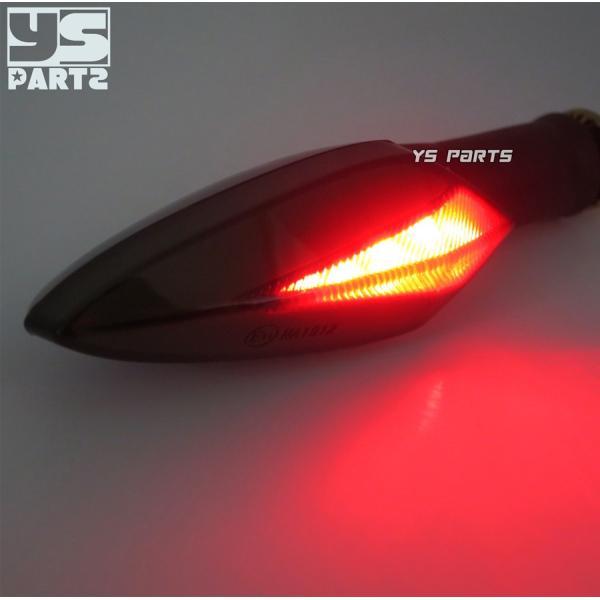 【車検対応Eマーク取得】汎用ポジション付LEDウインカー2個SET[スモークレンズ]XTZ125/YZF-R12/YZF-R25/YZF-R3/XT250X/WR250X/WR250R/MT-07/MT-09等|ys-parts-jp|05