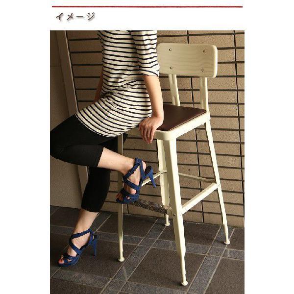 DULTON ダルトン スタンダードバーチェアー カウンターチェア いす イス 椅子 スチール製 背もたれ付き おしゃれ シンプル ダイニング カフェ 飲食店  送料無料|ys-prism|06