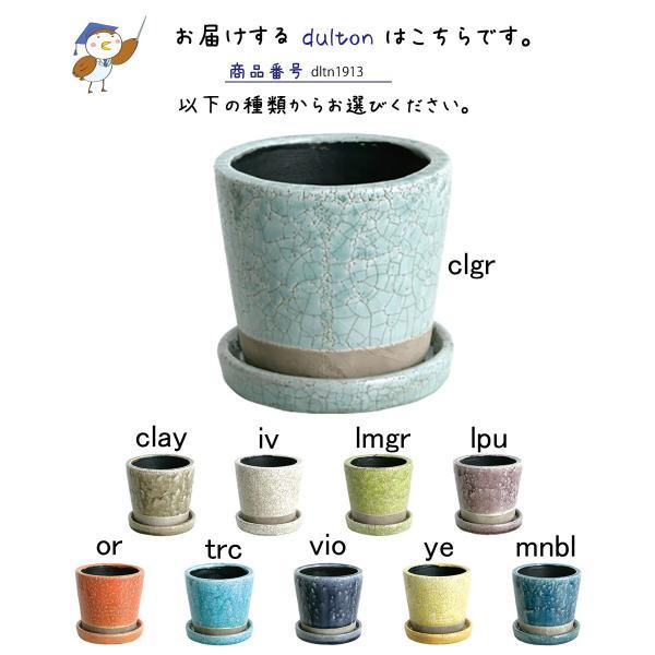 DULTON ダルトン カラーグレーズポット 植木鉢 鉢 フラワーポット 多肉植物 サボテン 花 植物 プラント 艶 ツヤ インテリア レトロ おしゃれ ひび割れ模様|ys-prism|03