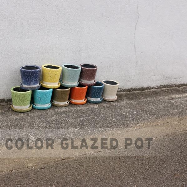 DULTON ダルトン カラーグレーズポット 植木鉢 鉢 フラワーポット 多肉植物 サボテン 花 植物 プラント 艶 ツヤ インテリア レトロ おしゃれ ひび割れ模様|ys-prism|05