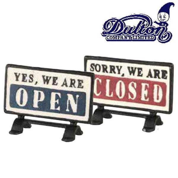DULTON ダルトン『リバーシブルサインスタンド オープン・クローズ』 案内板/表示板/テーブルサイン/看板/サインプレート/サインボード/業務看板|ys-prism