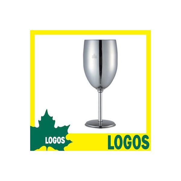 ワイングラス ロゴス LOGOS ステンレスワイングラス コップ グラス ワインカップ ステンレス 割れにくい キャンプ ピクニック ハイキング|ys-prism