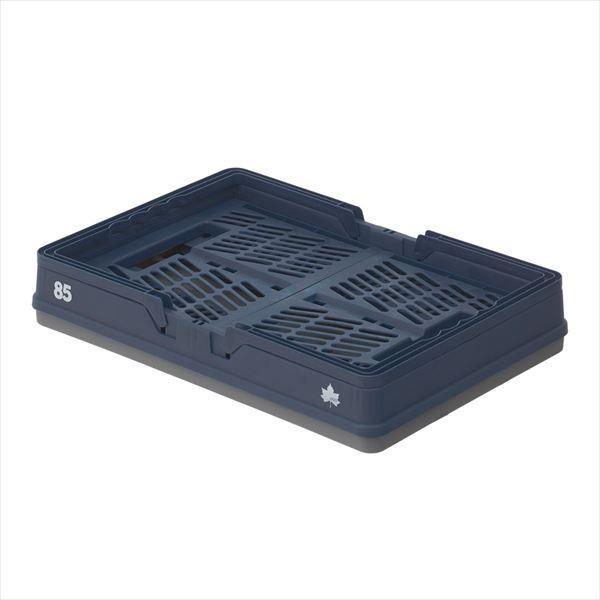 パタントキャリーバスケット(ネイビー) バスケット 収納ボックス 収納box アウトドア LOGOS ロゴス おしゃれ 軽量 ブルー 青 折り畳み式 折りたたみ式|ys-prism|04