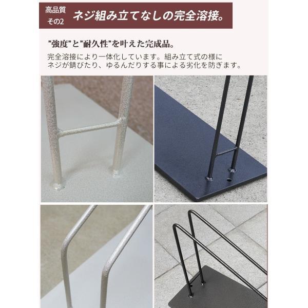 自転車スタンド 1台用 スリム コンパクト おしゃれ ホワイト 屋外 車輪止め 送料無料 ys-prism 13