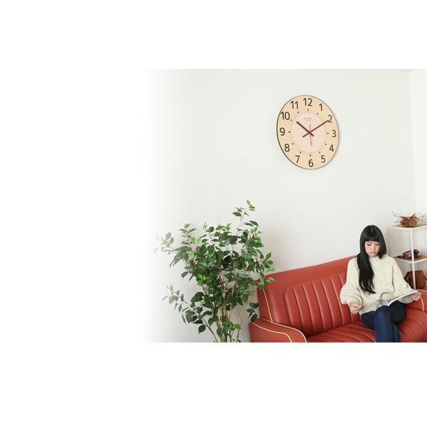 掛け時計 見やすい 大型時計 ザ・ミエール ナチュラル 大きい文字 大きいサイズ 巨大時計 壁掛け時計 ys-prism 18