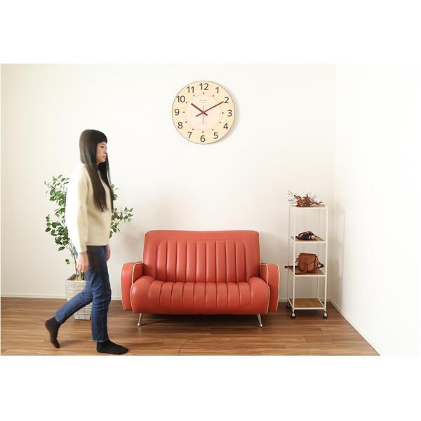 掛け時計 見やすい 大型時計 ザ・ミエール ナチュラル 大きい文字 大きいサイズ 巨大時計 壁掛け時計 ys-prism 03