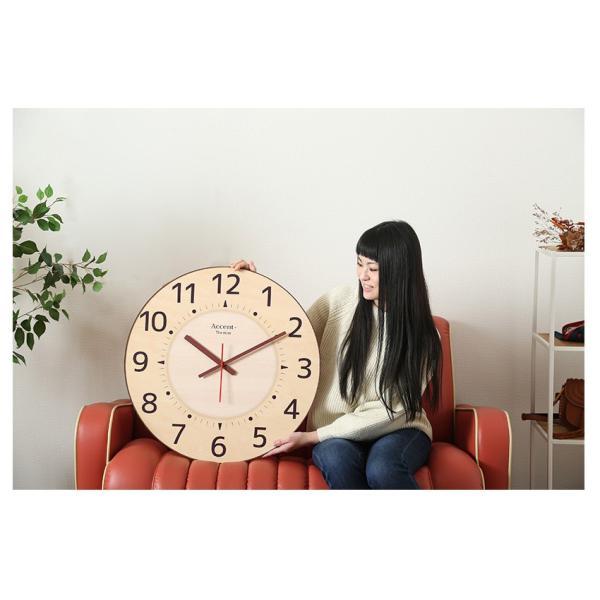 掛け時計 見やすい 大型時計 ザ・ミエール ナチュラル 大きい文字 大きいサイズ 巨大時計 壁掛け時計 ys-prism 05