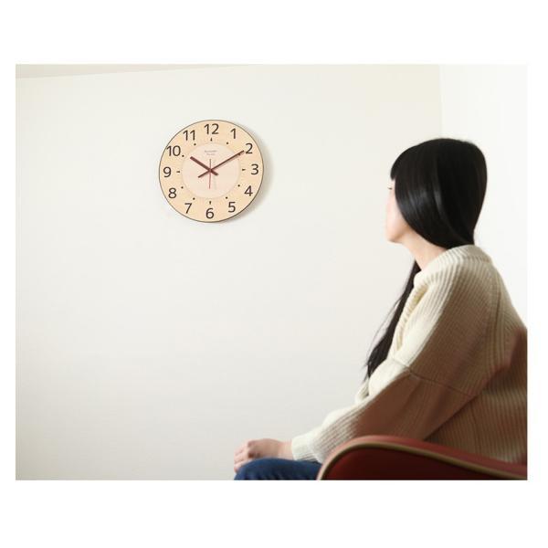 掛け時計 見やすい 大型時計 ザ・ミエール ナチュラル 大きい文字 大きいサイズ 巨大時計 壁掛け時計 ys-prism 06