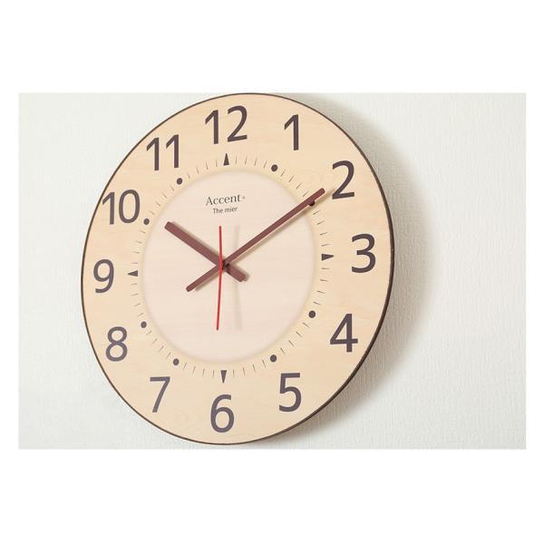 掛け時計 見やすい 大型時計 ザ・ミエール ナチュラル 大きい文字 大きいサイズ 巨大時計 壁掛け時計 ys-prism 07