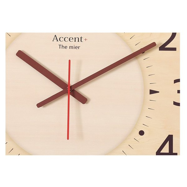 掛け時計 見やすい 大型時計 ザ・ミエール ナチュラル 大きい文字 大きいサイズ 巨大時計 壁掛け時計 ys-prism 10