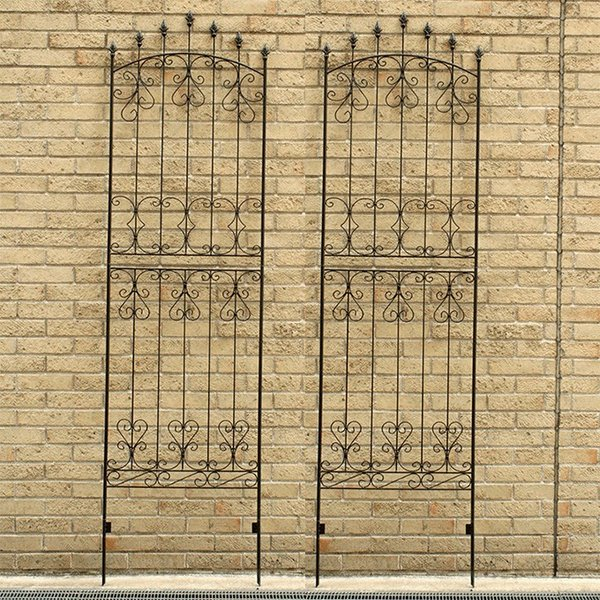 アイアンローズフェンス220 2枚組 アイアンフェンス ガーデンフェンス トレリス トレリスフェンス 柵 間仕切り ガーデニング用品  ハイタイプ 送料無料