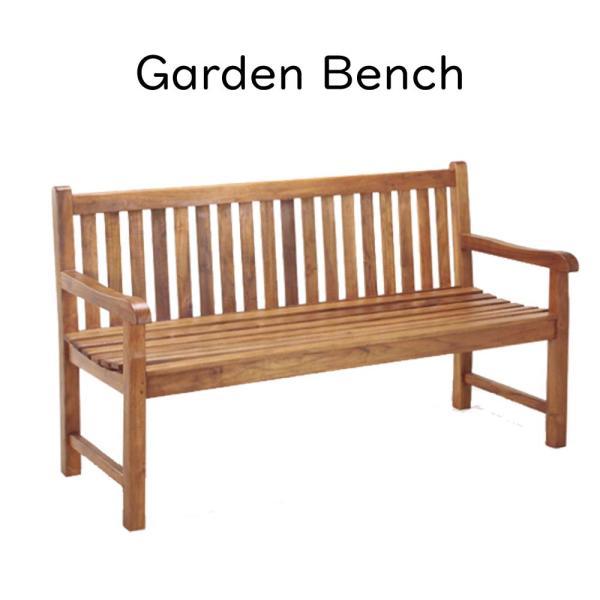 『ガーデンベンチ』ベンチ ガーデンベンチ ガーデンチェア パークベンチ 屋外用ベンチイス 椅子 チェア 茶色 ブラウン チーク材 商業施設 ゴルフ場