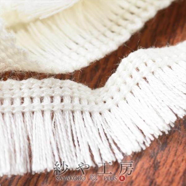 フリンジレース 幅約20mm ホワイト 約100cm 1m テープ リボン タッセル 手芸材料 裁縫  ハンドメイド 服飾雑貨