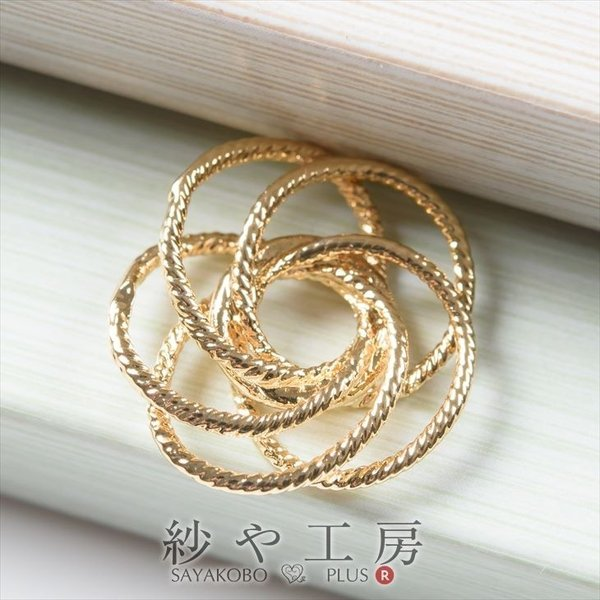 f2562481e87967 チャーム 5つのデザインリングのつなぎパーツ ゴールド 17.7mm 1個 アクセサリーチャーム ピアス ...