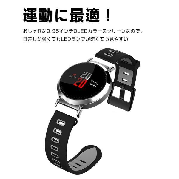 スマートウォッチ iPhone Android 対応 歩数計 血圧計 心拍数 日本語アプリケーション USB充電  SMS通知 電話着信通知 日本語説明書付き 消費カロリー