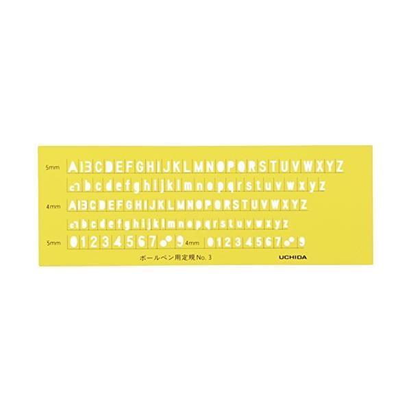 ウチダ テンプレート 英字数字定規 ボールペン用 No.3 1-843-1203