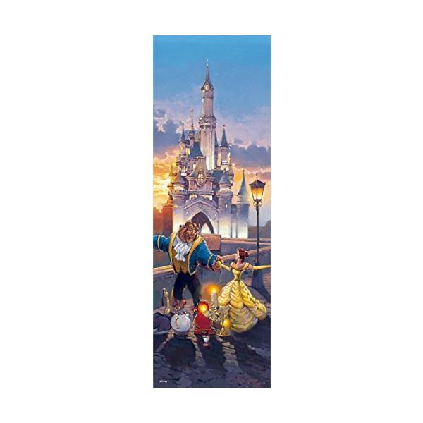 456ピース ジグソーパズル 美女と野獣 サンセット ワルツ ぎゅっとシリーズ 【ステンドアート】(18.5x55.5cm)
