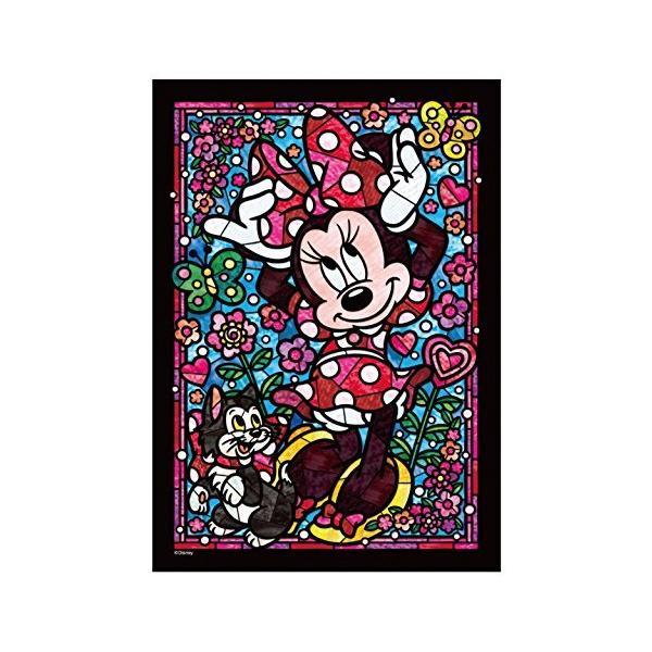 266ピース ジグソーパズル ステンドアート ディズニー ミニーマウス ステンドグラス ぎゅっとシリーズ 【ステンドアート】 (18.2x25.7cm