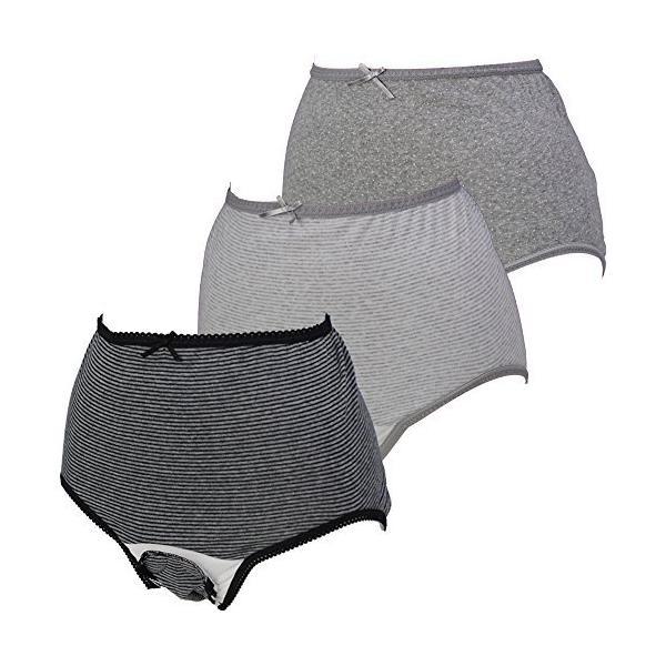 ローズマダム 産褥ショーツ3枚組 綿100% 肌ざわりがよく着け心地快適 お得セット ロングセラー 人気 出産準備 大きなサイズもあり E-BKボーダ