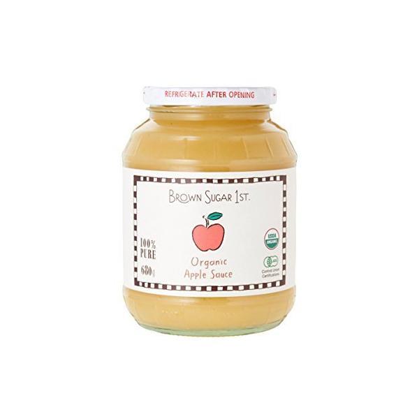 <すりおろしリンゴ>有機りんご100%オーガニックアップルソース(化学調味料無添加 砂糖不使用 天然 香料不使用)ブラウンシュガーファースト