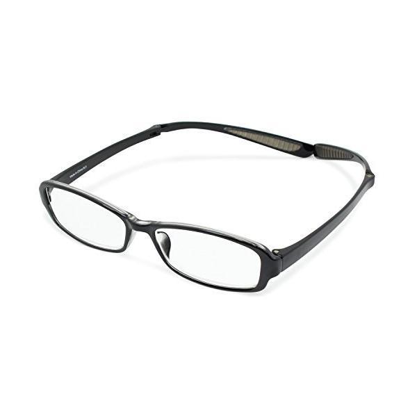 デューク 老眼鏡 首掛け +1.0 度数 ネオクラシック ネックハグ ソフトケース付き スモーク GLR-21-1+1.00