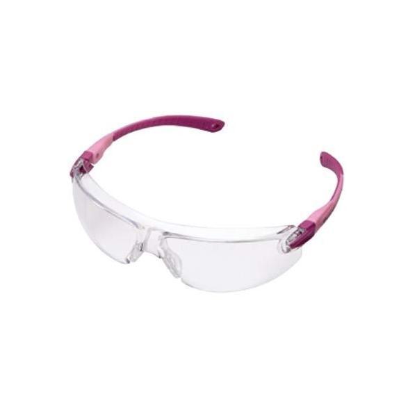 ミドリ安全 保護めがね ビジョンベルデ 女性向け 小型タイプ テンプルカラー : ピンク W139×H45×D154mm VS103F