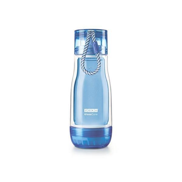 LEADWORKS ZOKU(ゾク) コアボトル 355ml ブルー φ7.7xH21cm カラフル おしゃれ 耐熱 耐久 ガラス ホウケイ酸 衛生的