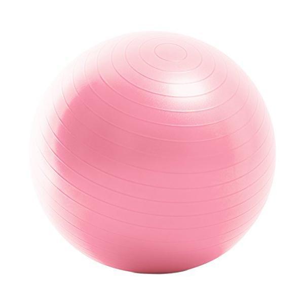 La-VIE(ラヴィ) バランスボール ノンバーストジムボール55cm ピンク フットポンプ 紙メジャー付き 3B-3128