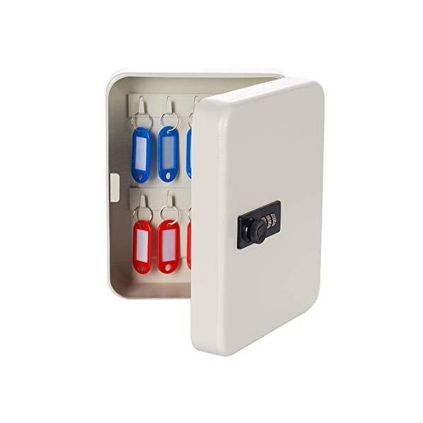 八番屋 キーボックス キーケース 鍵収納 鍵管理 オフィス 家庭 壁掛け 専用キー付き インテリア オシャレ 小型 暗証番号 ダイヤルロック (18キ