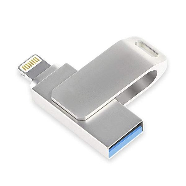 delicoco USBメモリ 32gb フラッシュドライブ iPad iPod touchの容量不足解消 回転式 高速 3-in-1 iOS/Win