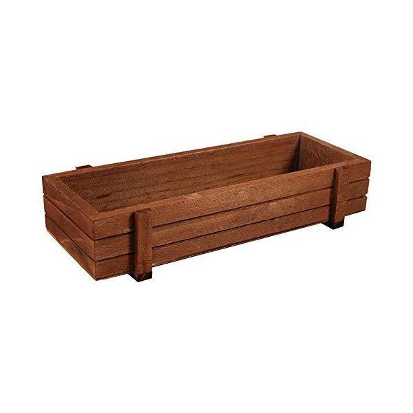 TOPINCN 木製 プランター ハーブ 多肉植物プランター ボックス 屋内/屋外 ホームガーデン 長方形 収納ボックス