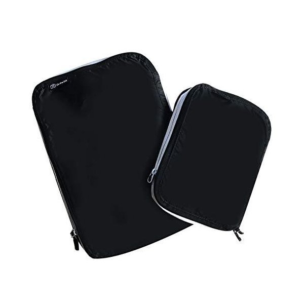 <2個セット> On the GO 圧縮バッグ ファスナーで簡単圧縮!スーツケースの衣類スペースを50%節約