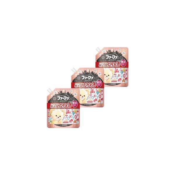 ファーファ トリップ 東京 濃縮 柔軟剤 さくらの香り 大容量 1200ml 詰替 3個セット