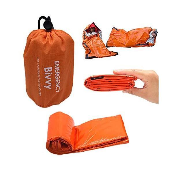 簡易寝袋 サバイバルシート 非常用寝袋 90%の体熱を保つ コンパクト 軽量 繰り返し 自然災害 地震 津波対策 アウトドア 非常 用 特大サイズ 防