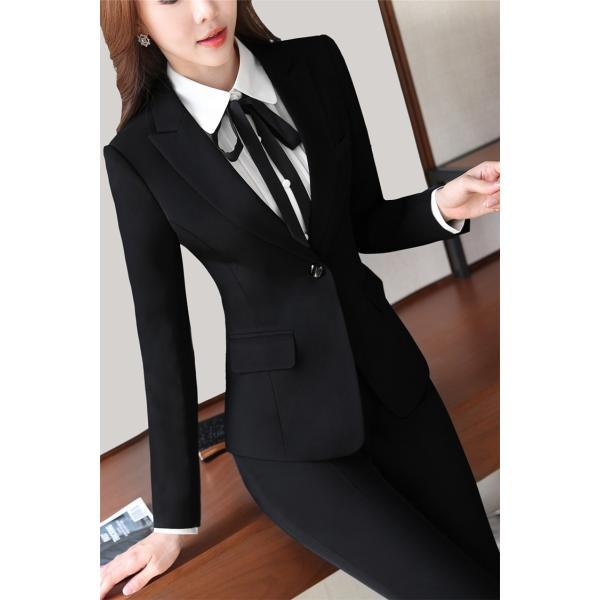 スーツ レディース パンツ スカート 通勤 就活 面接 長袖 2点セット オフィス ビジネス テーラードジャケット ストレッチ 黒 グレー|ytolive|11
