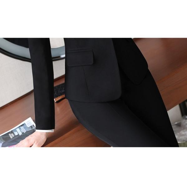 スーツ レディース パンツ スカート 通勤 就活 面接 長袖 2点セット オフィス ビジネス テーラードジャケット ストレッチ 黒 グレー|ytolive|20