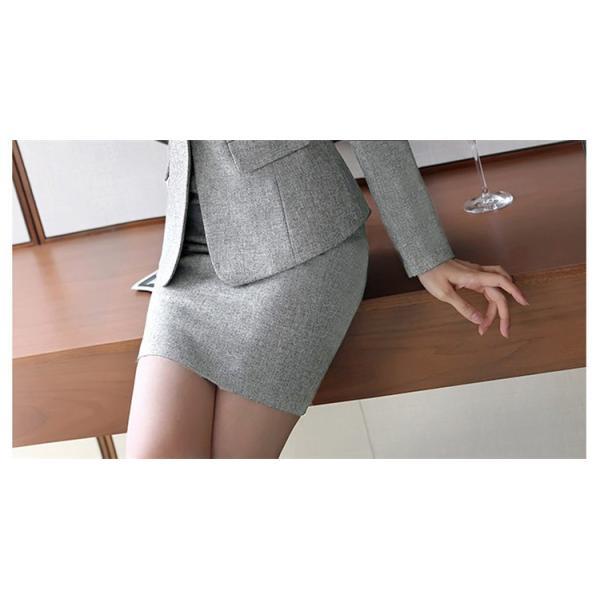 スーツ レディース パンツ スカート 通勤 就活 面接 長袖 2点セット オフィス ビジネス テーラードジャケット ストレッチ 黒 グレー|ytolive|10