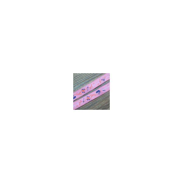 1裁縫モチーフのチロルテープ 幅16mm ピンク(10ヤード)