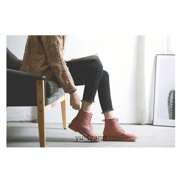 ブーツ ショートブーツ 厚底 ミリタリーブーツ レースアップ 編み上げ レディース ワークブーツ フェイクレザー 靴