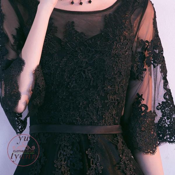 パーティードレス 結婚式 フォーマル ロング丈 袖あり 二次会 マキシ丈ワンピース お呼ばれ 大きいサイズ 二次会 発表会 袖あり 高級上品 30代 40代 50代|yu-tyann|11