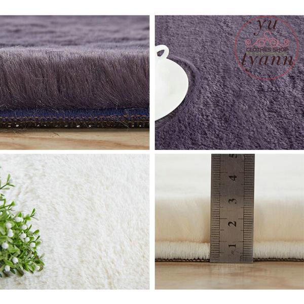 ラグ 北欧 ラグマット じゅうたん シャギーラグ 洗える 角型 ふわふわ もふもふ オールシーズン 厚み30mm ウォッシャブル カーペット 絨毯 夏 冬 新生活 yu-tyann 07