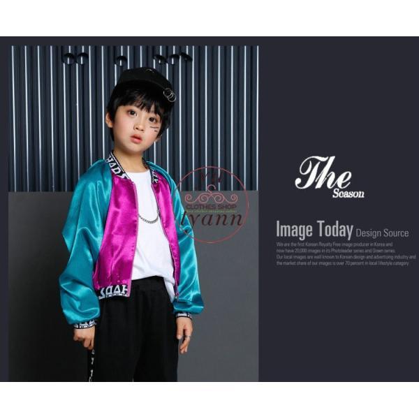 キッズ ダンス衣装 ヒップホップ HIPHOP 長袖 子供 男の子 セットアップ ジャズダンス ズボン コート 女の子 演出服 練習着 ステージ衣装|yu-tyann|11
