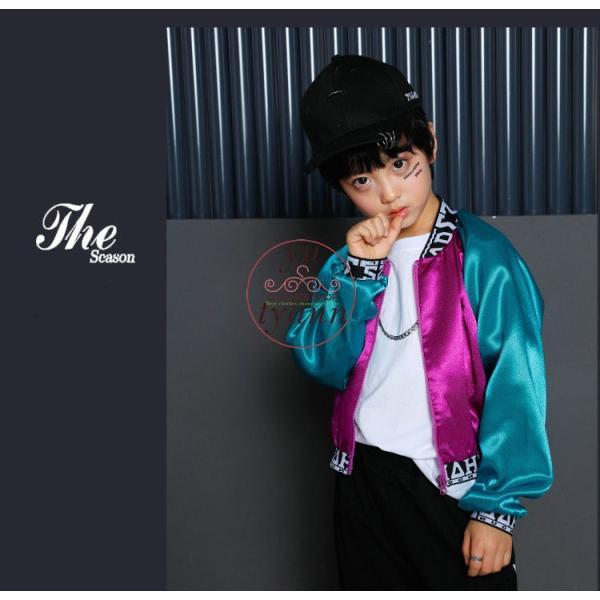 キッズ ダンス衣装 ヒップホップ HIPHOP 長袖 子供 男の子 セットアップ ジャズダンス ズボン コート 女の子 演出服 練習着 ステージ衣装|yu-tyann|13