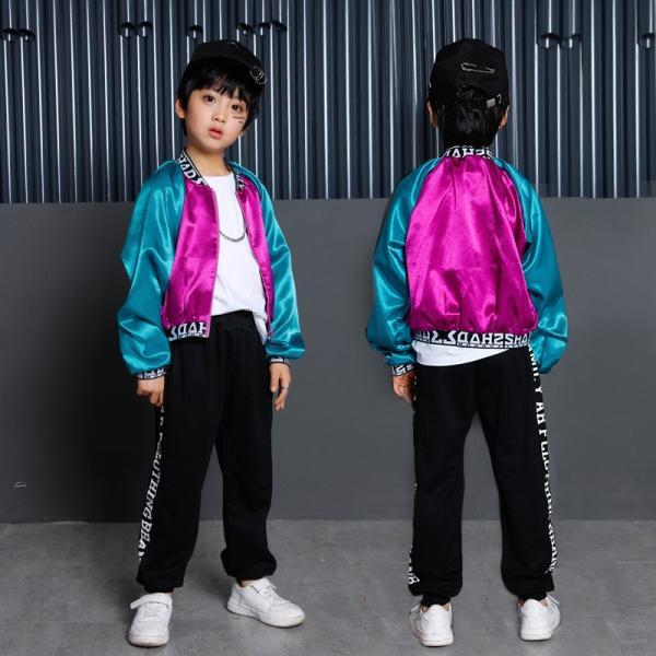 キッズ ダンス衣装 ヒップホップ HIPHOP 長袖 子供 男の子 セットアップ ジャズダンス ズボン コート 女の子 演出服 練習着 ステージ衣装|yu-tyann|18