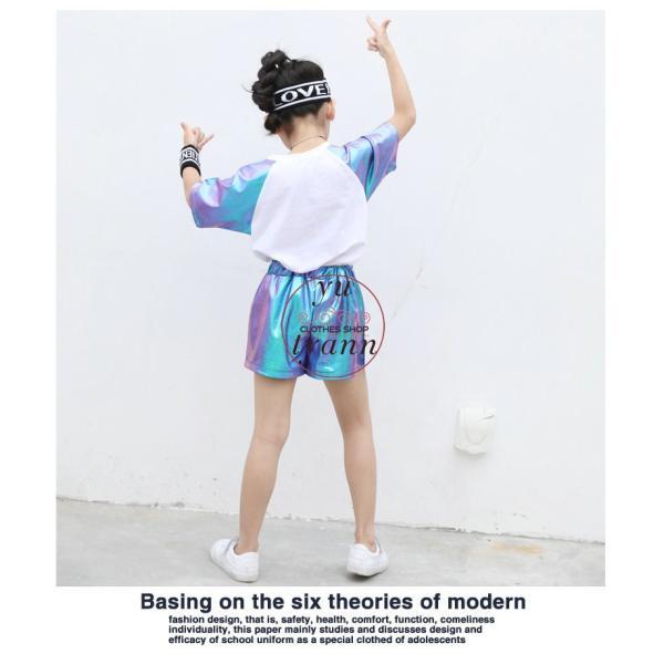 キッズ ダンス衣装 ヒップホップ HIPHOP ダンストップス 子供 男の子 セットアップ ジャズダンス パンツ 女の子 演出服 練習着 ステージ衣装|yu-tyann|11