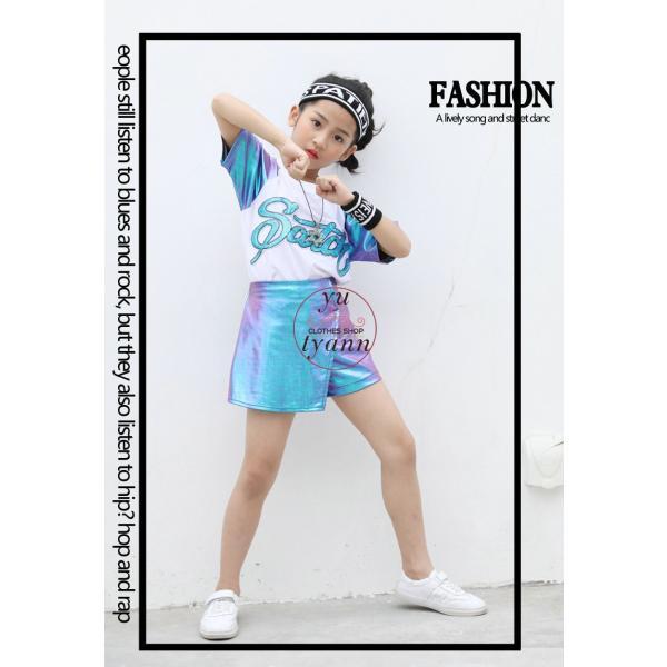 キッズ ダンス衣装 ヒップホップ HIPHOP ダンストップス 子供 男の子 セットアップ ジャズダンス パンツ 女の子 演出服 練習着 ステージ衣装|yu-tyann|05