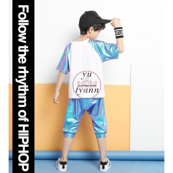 キッズ ダンス衣装 ヒップホップ HIPHOP ダンストップス 子供 男の子 セットアップ ジャズダンス パンツ 女の子 演出服 練習着 ステージ衣装|yu-tyann|10