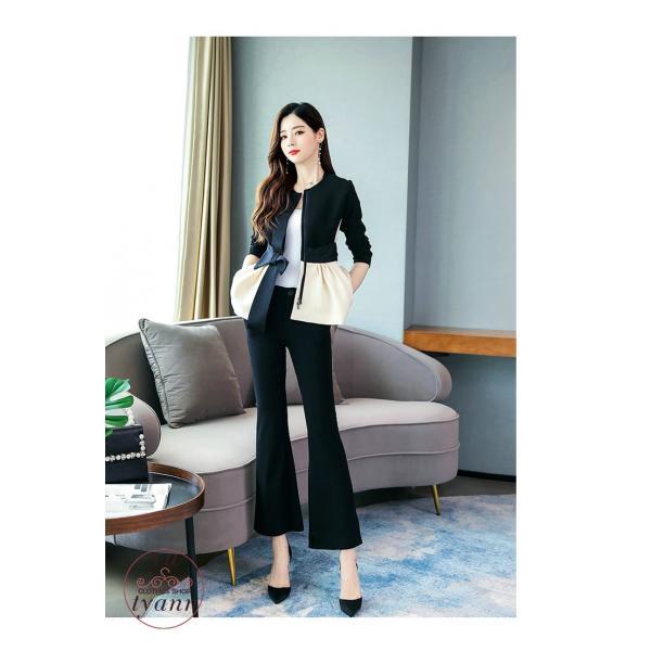 パンツスーツ レディース セットアップ フォーマル オフィス ビジネス かっこいい カジュアル 大きいサイズ 結婚式 ゆったり おしゃれ 20代 30代 40代 50代|yu-tyann|12