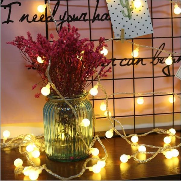 ストリングライト 屋外 USB LEDイルミネーションライト ボール 飾り 屋内 祝日 パーティー装飾 10M80灯 オーナメント USB式 クリスマス 結婚式 年会 誕生会|yu-tyann|02