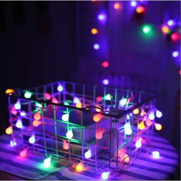 ストリングライト 屋外 USB LEDイルミネーションライト ボール 飾り 屋内 祝日 パーティー装飾 10M80灯 オーナメント USB式 クリスマス 結婚式 年会 誕生会|yu-tyann|03